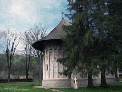 Painted Monastery Print by Jeff Kolker