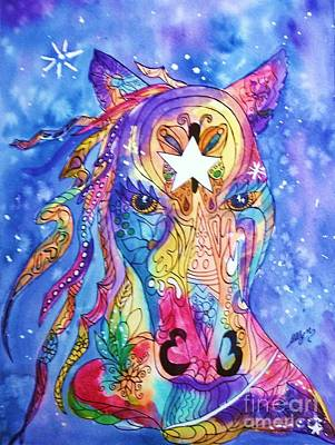 Painted Pony Print by Ellen Levinson