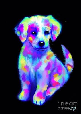 Puppy Digital Art - Painted Pup 2 by Nick Gustafson