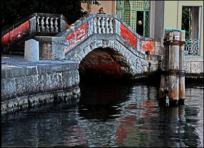 Painted Stone Bridge Vizcaya Original by Allan Einhorn