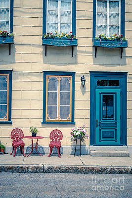 Paris Photograph - Painted Townhouse In Old Quebec City by Edward Fielding