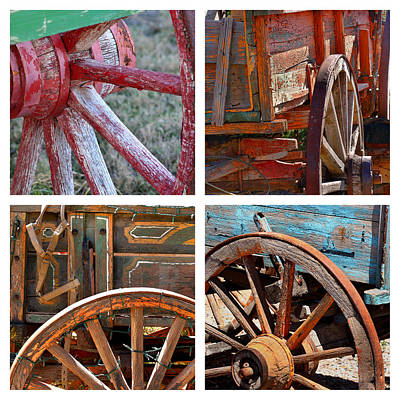 Old West .america Photograph - Painted Wagons by Art Block Collections