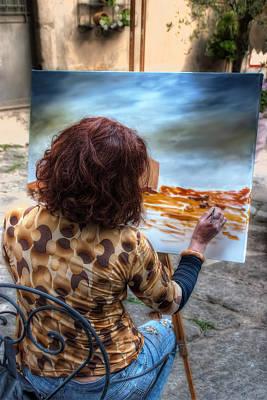 Painter To The Canvas Print by Leonardo Marangi