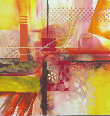 Curvilinear Painting - Painting Is Poetry Which Is Seen And Not Heard by Patricia Mayhew Hamm