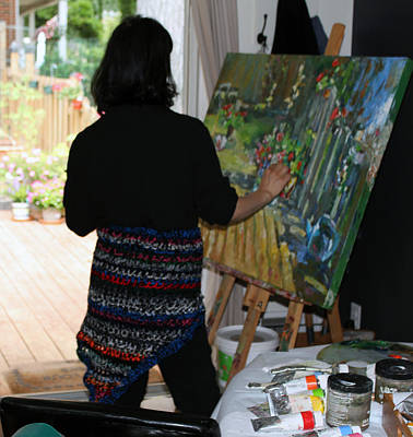 Photograph - Painting My Backyard 1 by Becky Kim