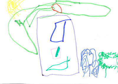 Colored Pencil Abstract Photograph - Painting Of A Bright Happy Home  by Fizzy Image