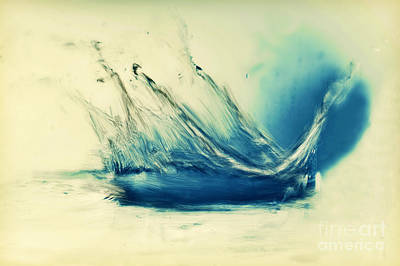 Painting Of Fresh Water Splash Print by Michal Bednarek