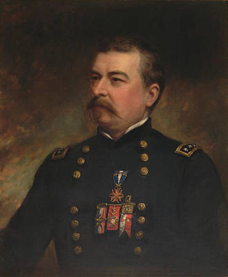 Badge Painting - Painting Of Union Army General Philip by Stocktrek Images