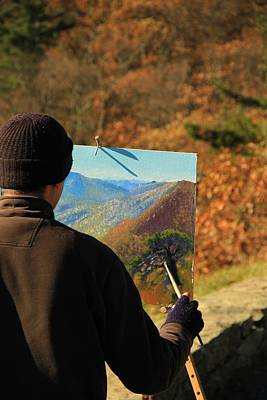 Painter Photograph - Painting Shenandoah by Dan Sproul