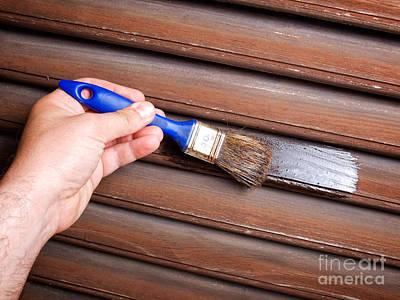 Painting Woodwork Print by Sinisa Botas