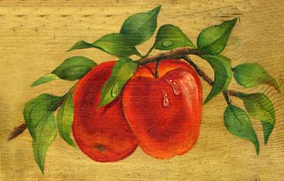 Apple Painting - Pair Of Apples by Doreta Y Boyd