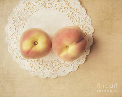 Pair Of Peaches Print by Jillian Audrey Photography