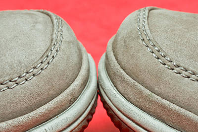 Sneakers Photograph - Pair Of Shoes by Tom Gowanlock