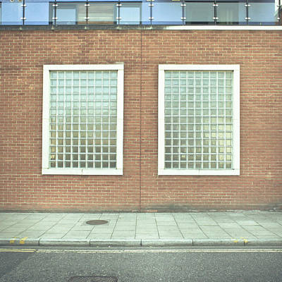 Brick Buildings Photograph - Pair Of Windows by Tom Gowanlock