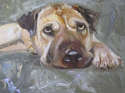 Dog Painting - Paisley The Shar Pei by Vicki Ross