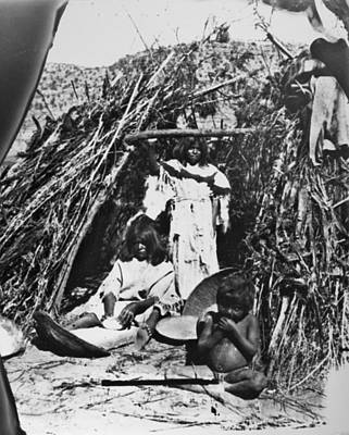 Grind House Photograph - Paiute Woman With Metate by Granger