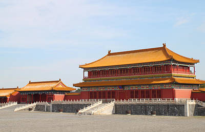 Palace Forbidden City In Beijing Print by Thanapol Kuptanisakorn