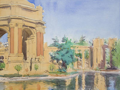 Palace Of Fine Arts Print by Walter Lynn Mosley