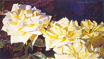 Palace Roses Print by David Lloyd Glover