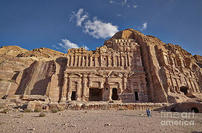 Palace Tomb In Nabataean Ancient Town Petra Original by Juergen Ritterbach