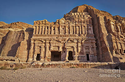 Palace Tombin Nabataean Ancient Town Petra Original by Juergen Ritterbach