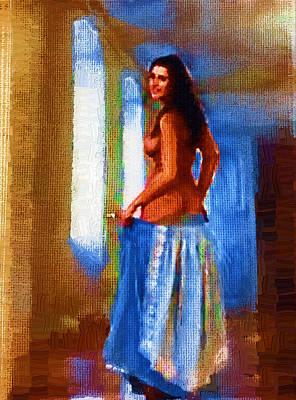 Manipulation Photograph - Palatial Nude by Mario Carini