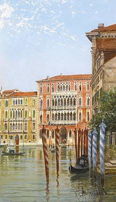 Venice Ca Painting - Palazzo Ca' Foscari by Celestial Images
