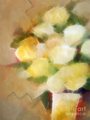 Structure Mixed Media - Pale Flowers by Lutz Baar