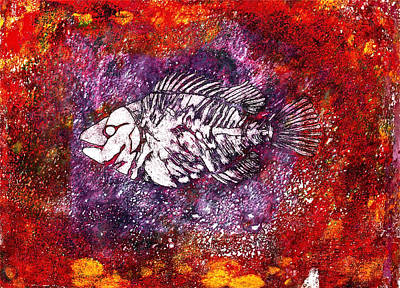 Goldfish Mixed Media - Paleo Fish by Bellesouth Studio