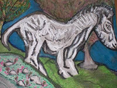 Optimistic Drawing - Paleolithic Era Horse by Jonathon Hansen