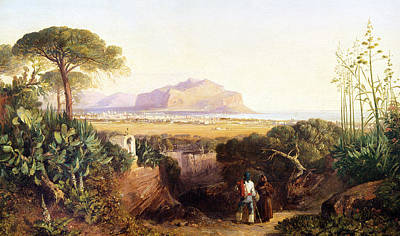 Shrine Painting - Palermo Sicily by Edward Lear