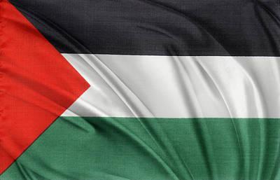 Textiles Photograph - Palestine Flag by Les Cunliffe