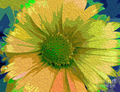 Abstracted Coneflowers Digital Art - Palette Knife Coneflower by Nina Silver