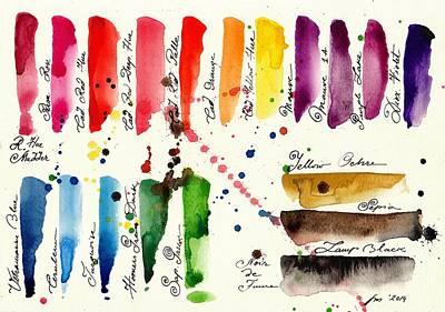 Les Couleur Painting - Palette by Tiberiu Soos