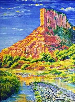 Palisiade At Gateway Colorado Original by Annie Gibbons