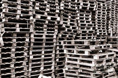 Pallet Photograph - Pallets  by Olivier Le Queinec