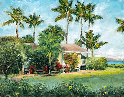 Palm Cottage Print by Stacy Vosberg