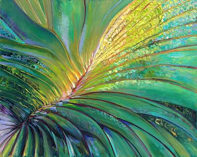 Palm Frond Painting - Palm by Debra Benditz
