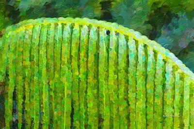 Palm Leaf Original by Angela A Stanton