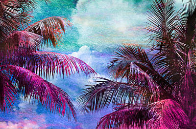 Palm Fronds Photograph - Palmscape Paradise by Laura Fasulo