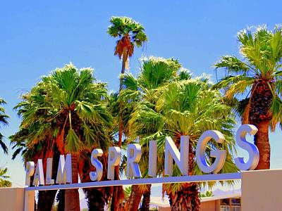Palm Springs Gateway Visitor Center Print by Randall Weidner
