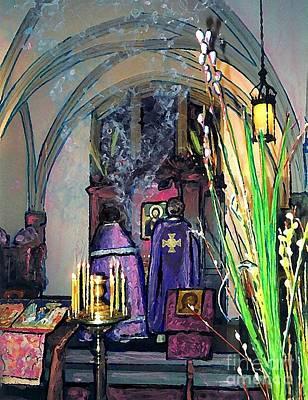 Palm Sunday Liturgy Print by Sarah Loft