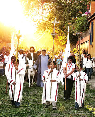 Mexican Fiesta Photograph - Palm Sunday - Mexico by David Perry Lawrence