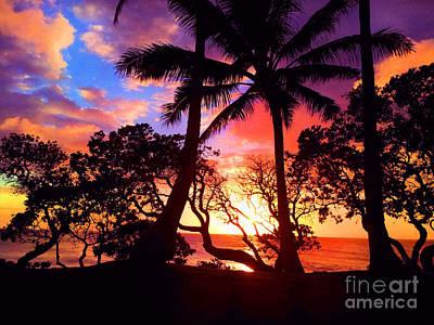 Beach Art Photograph - Palm Tree Silhouette by Kristine Merc
