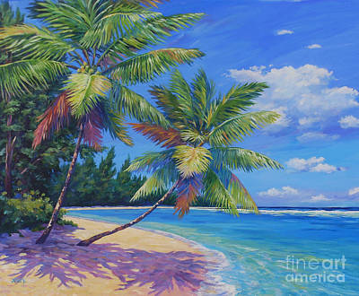 Caribbean Painting - Palms At Winter Haven 20x16 by John Clark