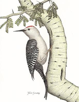 Woodpecker Mixed Media - Palo And Peck by Julie Stubbs