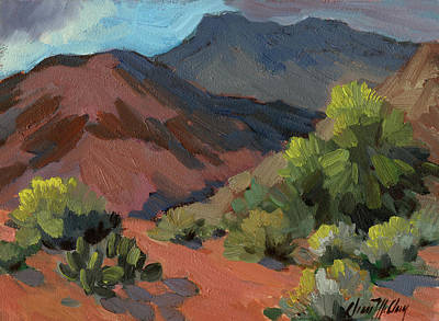 Country Scenes Painting - Palo Verdes In Bloom by Diane McClary