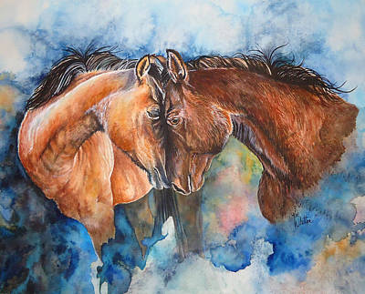 Roping Horse Painting - Bonded by Kim Whitton