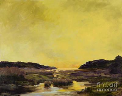 Tidal Basin Painting - Pamet Spring by Elizabeth Lazeren