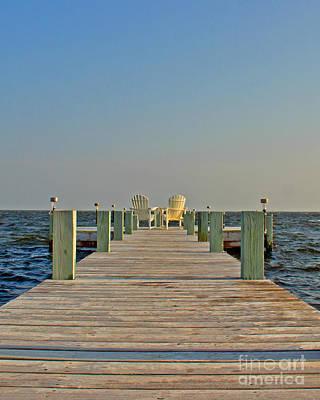 Beach Photograph - Pamlico Sound by Tom Gari Gallery-Three-Photography
